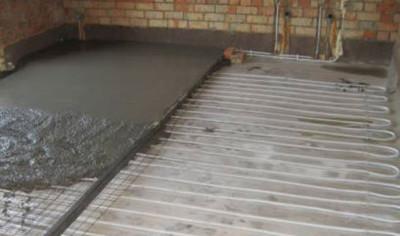 стяжка для водяного для теплого пола